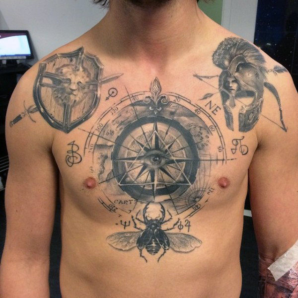 Middle Chest Tattoo: 110+ Best Illuminati Tattoos & Designs With Meanings