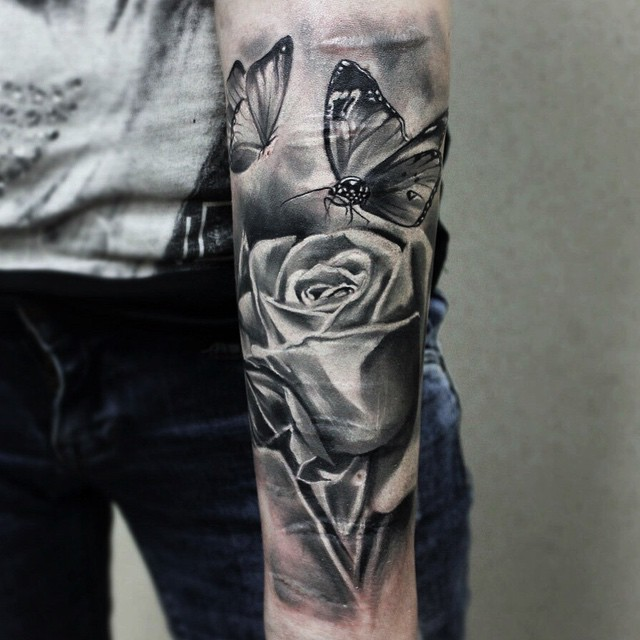 60+ Amazing Rose & Butterfly Tattoos & Designs With Meanings
