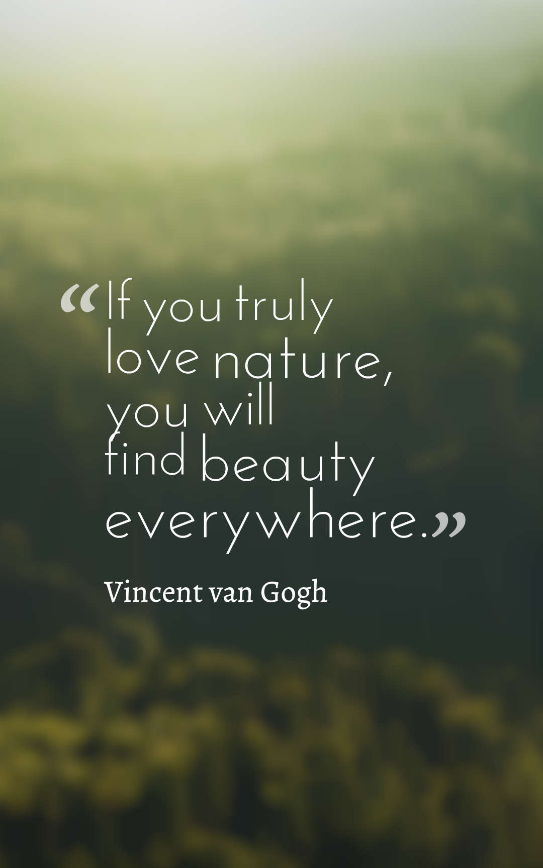 If You Truly Love Nature You Will Find Beauty Everywhere Vincent