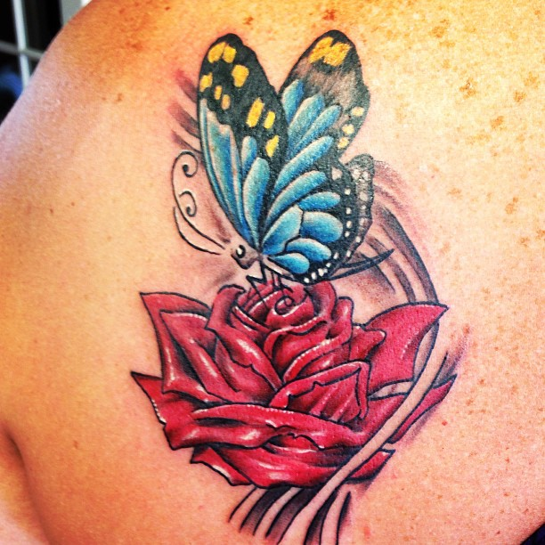 60 Amazing Rose Butterfly Tattoos Designs With Meanings