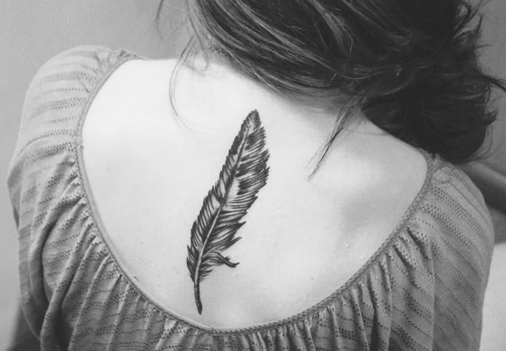 d5d43ee04ed29 30+ Wonderful Owl Feather Tattoo Ideas & Designs