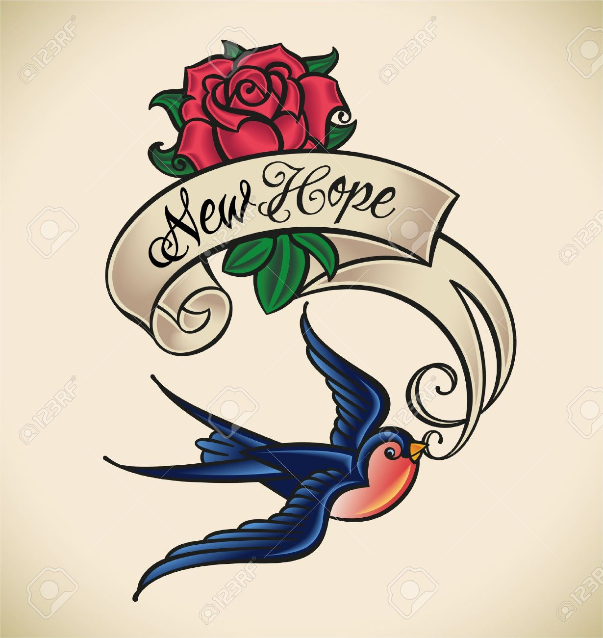 51 excellent rose swallow tattoos designs with meanings. Black Bedroom Furniture Sets. Home Design Ideas