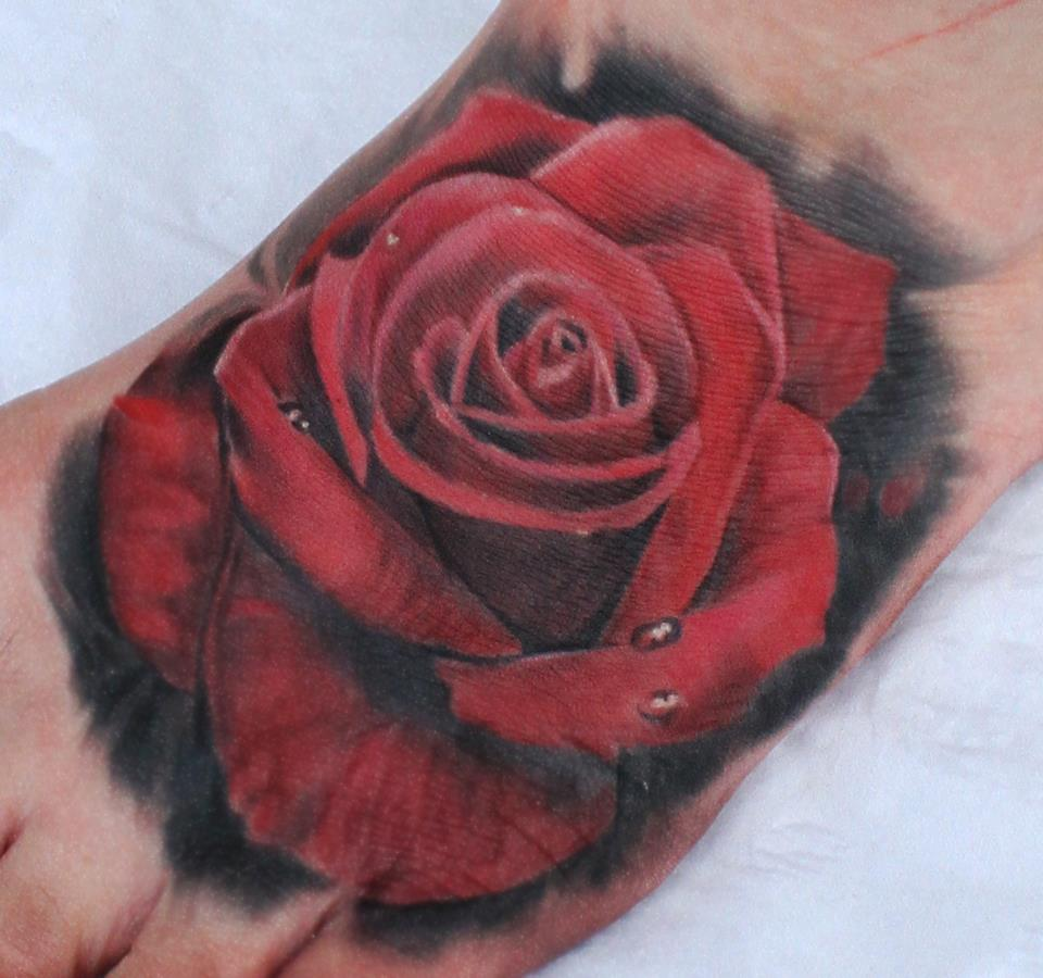10 Foot Rose Tattoo Designs: 75+ Lovable Red Rose Tattoos And Designs With Meanings