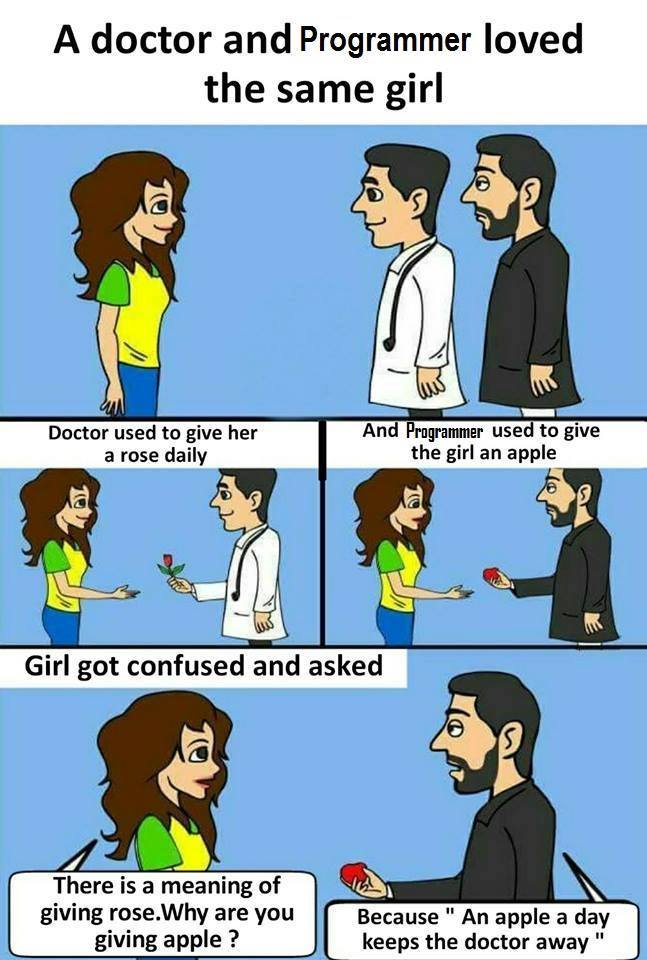 Funny Love Meme – A Doctor and programmer loved the same girl