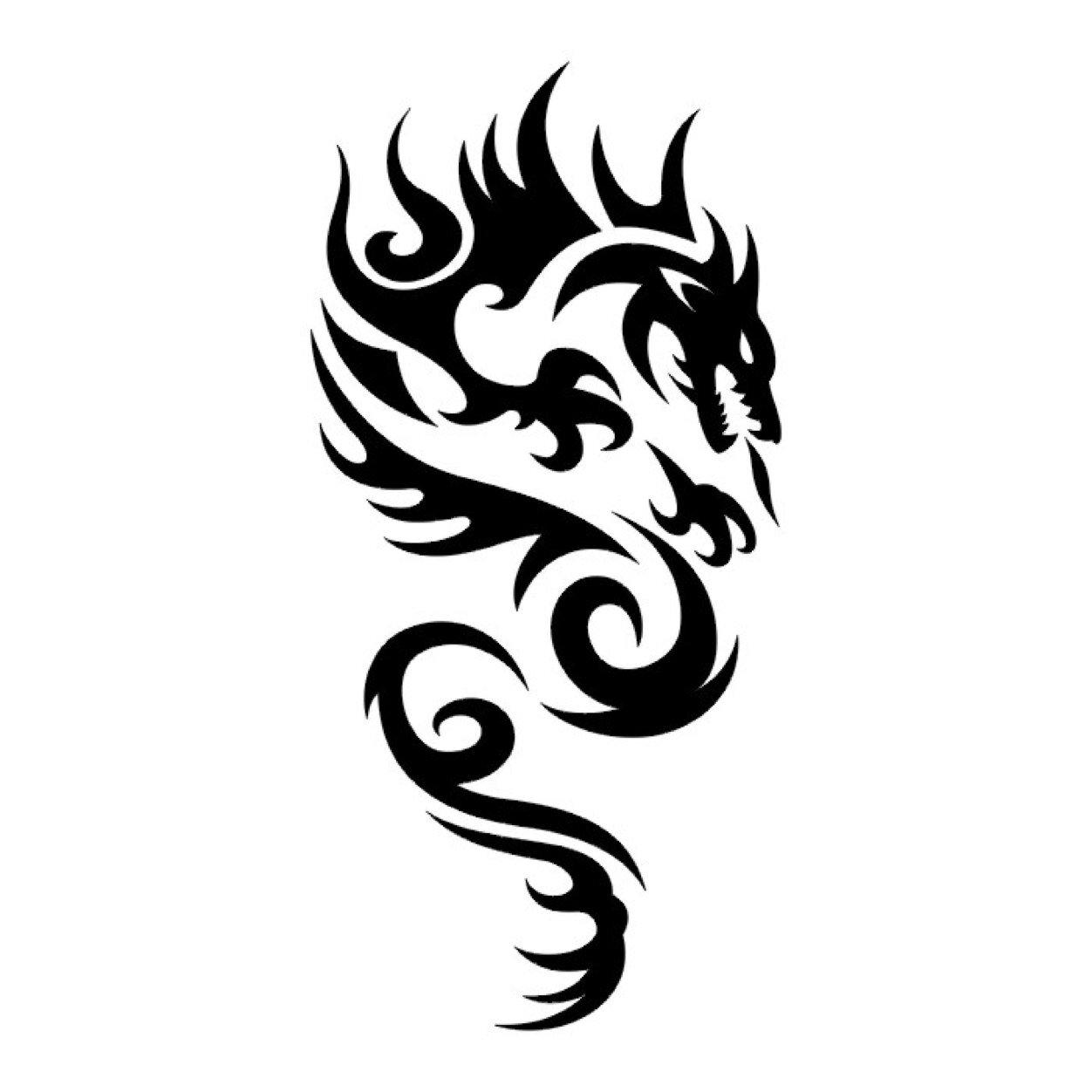 80 Tribal Dragon Tattoo Designs Ideas