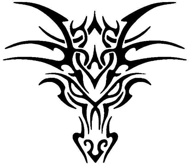 80 tribal dragon tattoo designs ideas. Black Bedroom Furniture Sets. Home Design Ideas