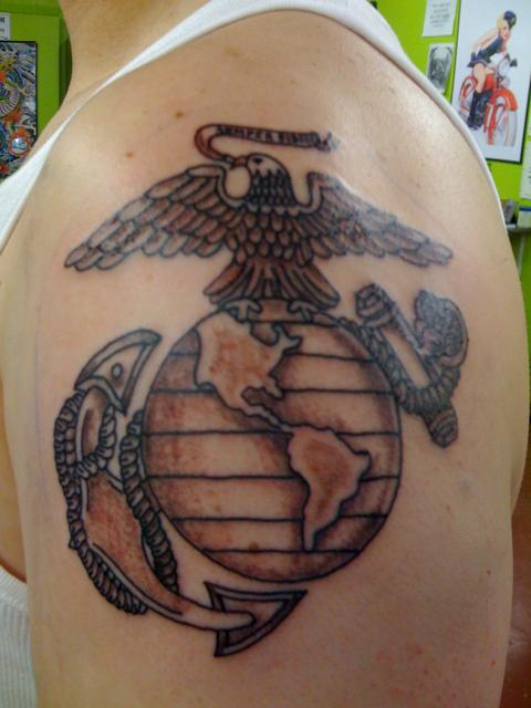 60+ Globe Eagle And Anchor Tattoos & Designs With Meanings