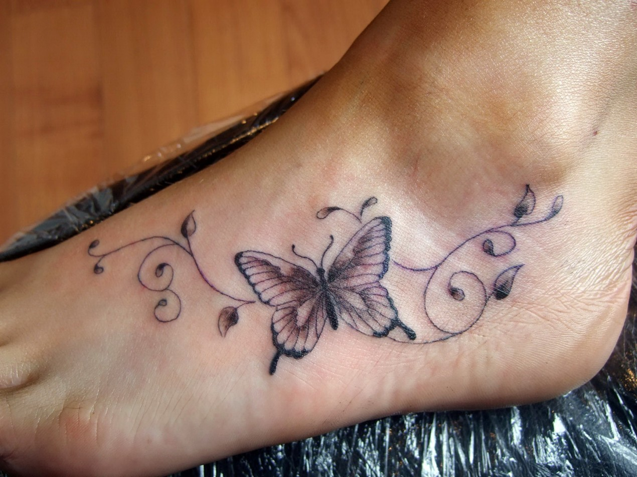 Butterfly Tattoo Ankle: 85+ Beautiful Butterfly Tattoos & Designs With Meanings
