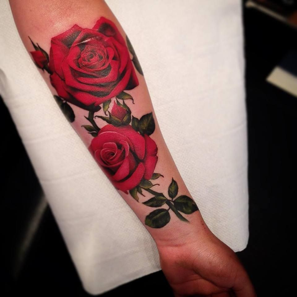 Rose Tattoo Side Black: 75+ Lovable Red Rose Tattoos And Designs With Meanings