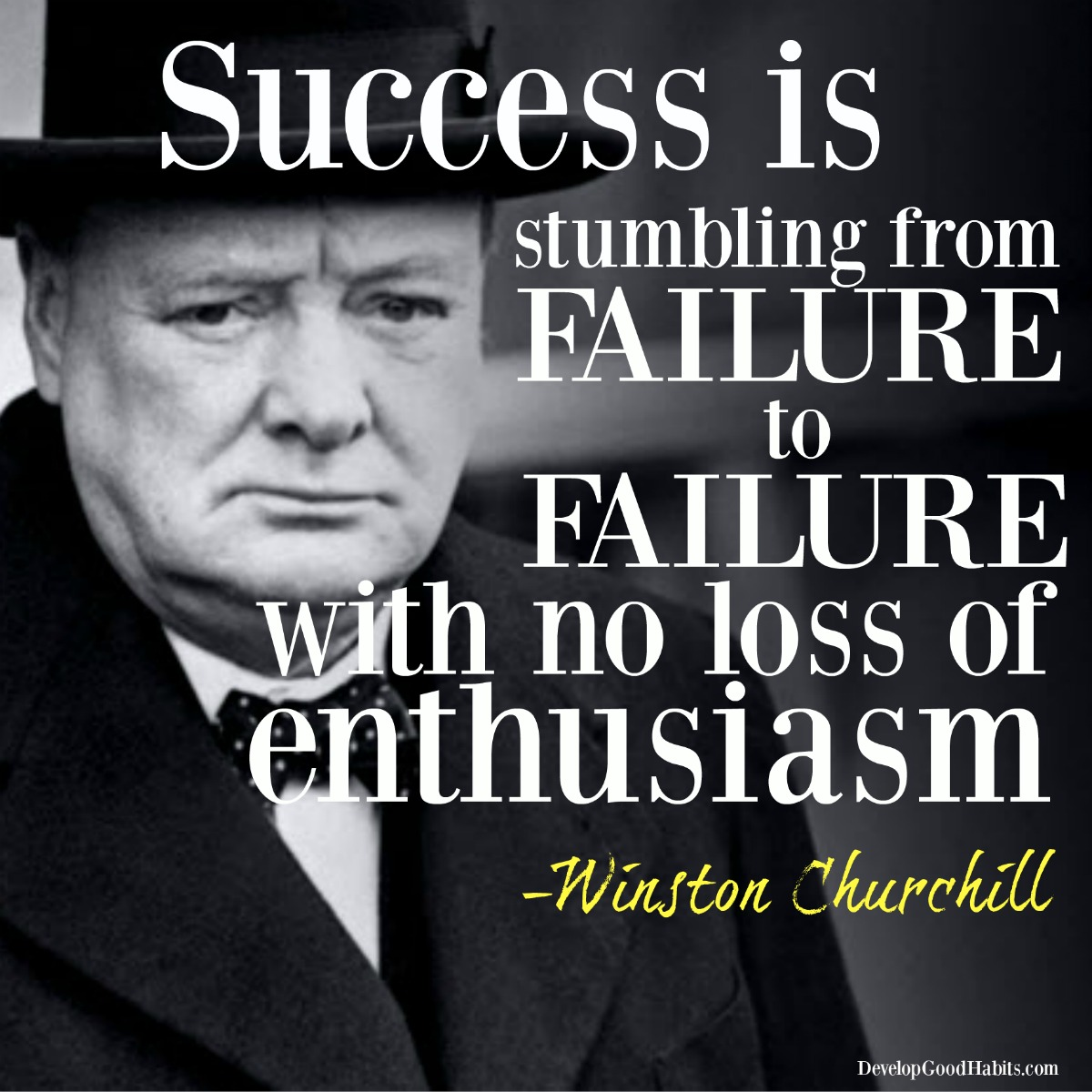 Quotes On Success And Failure: Success Is Stumbling From Failure To Failure With No Loss