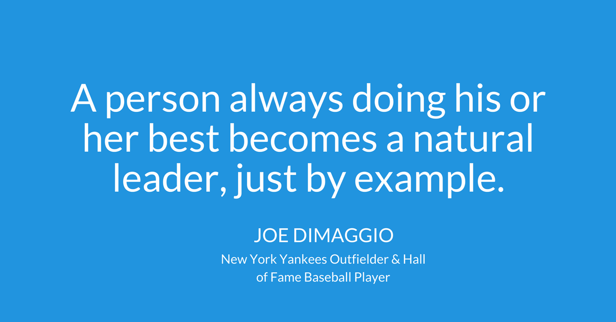A person always doing his or her best becomes a natural ...