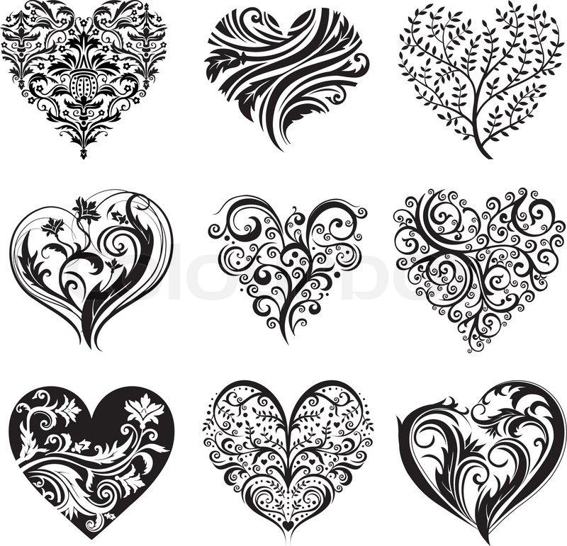 7cf3e6a1b96a8 Black beautiful heart tattoo designs