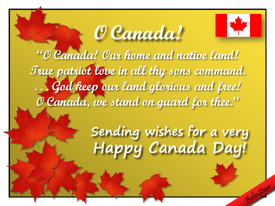 Sending wishes for a very happy canada day card m4hsunfo