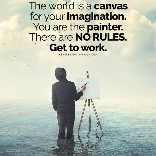 world is the canvas of imagination