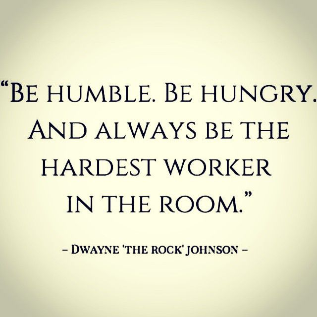 Hardest Worker In The Room Quote