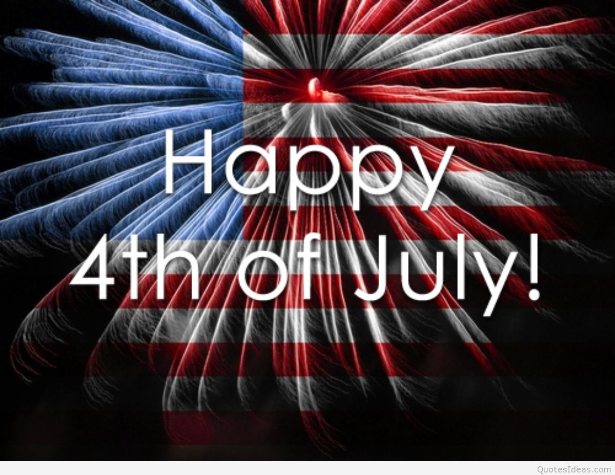 Happy 4th Of July American Flag In Background Patriotic Picture