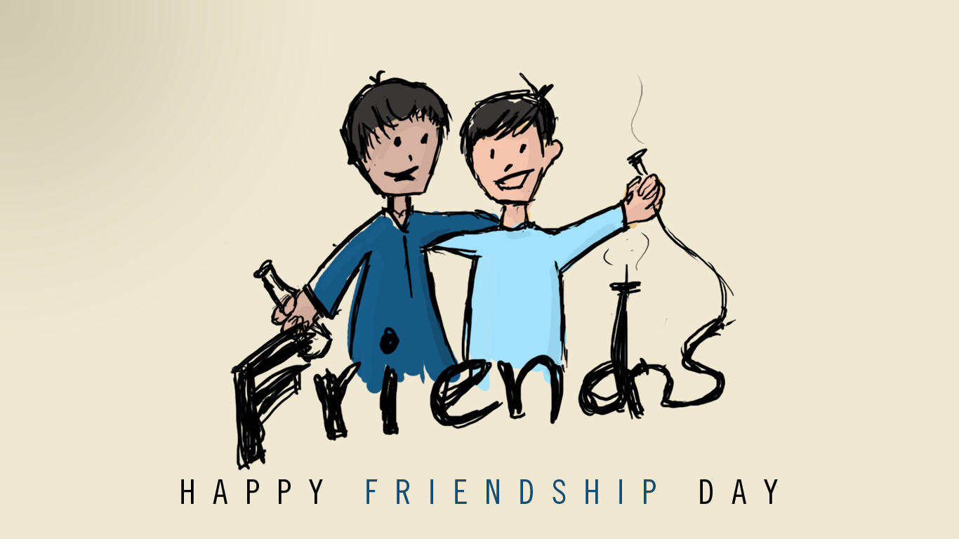 Happy Friendship Day Friends Wallpaper