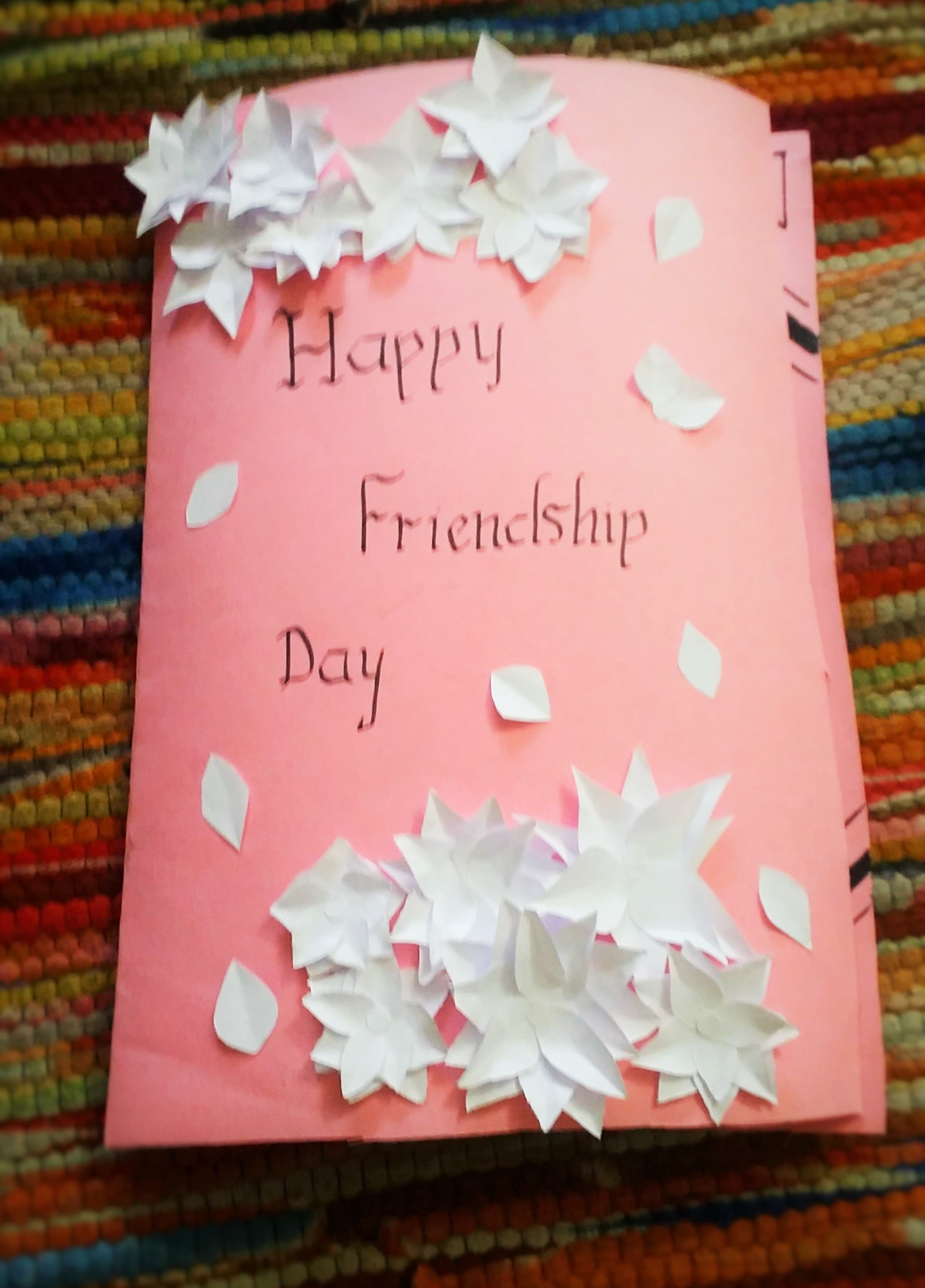 Happy Friendship Day Hand Made Greeting Card