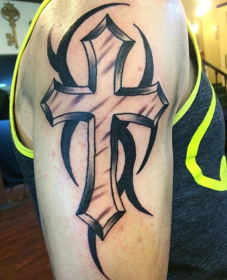105+ Religious Cross Tattoos – Designs For Men & Women