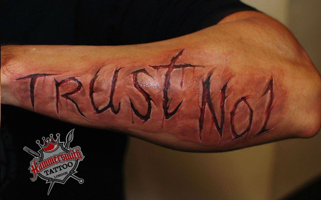 80 Trust No One Tattoos And Designs