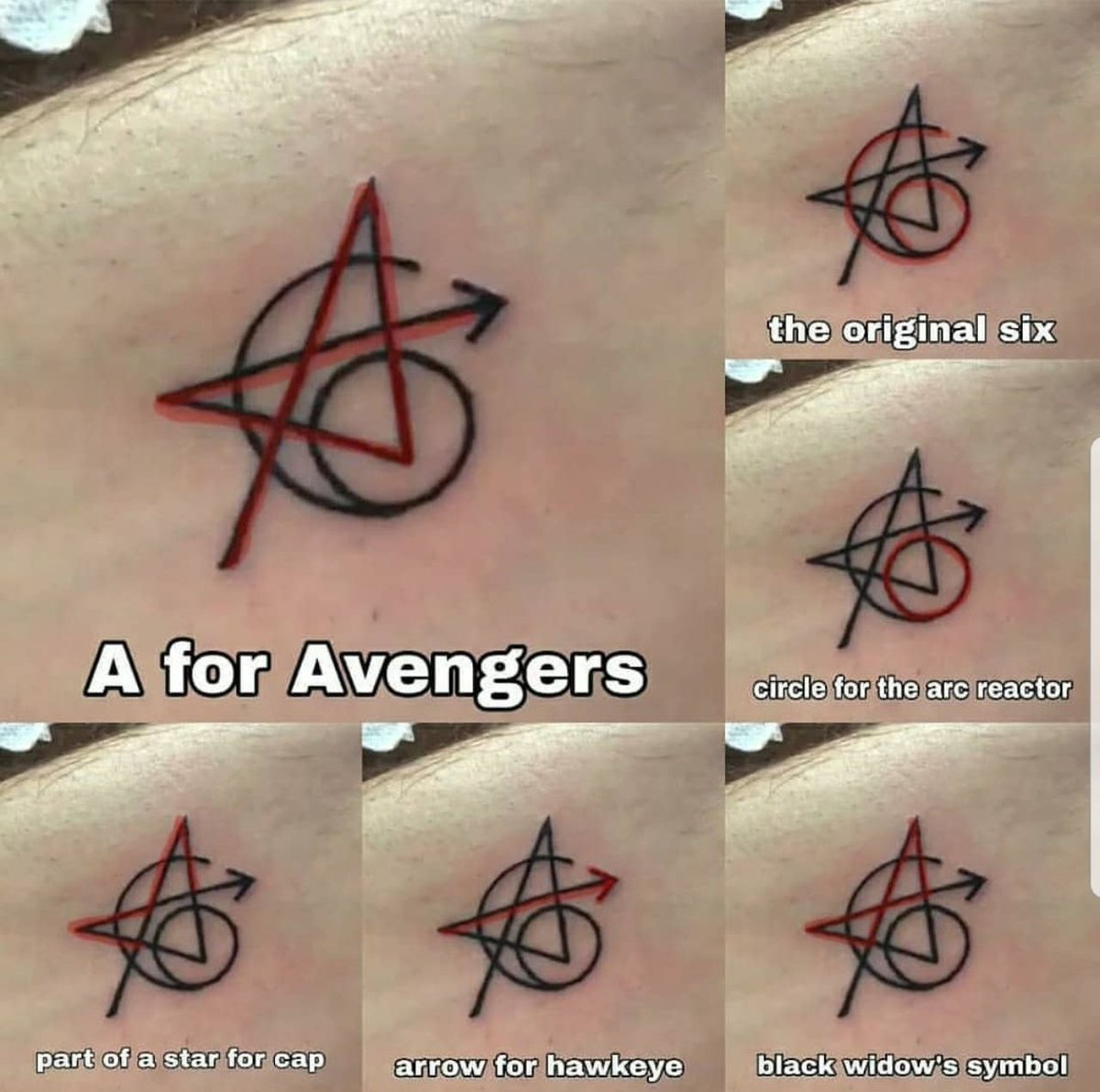 Black Avengers Infinity War Tattoo Design Meaning On Body