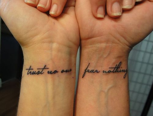80+ Trust No One Tattoos And Designs