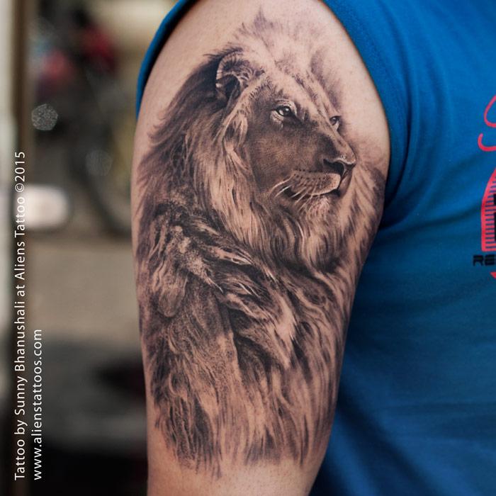 14e467cbf 110+ Lion Tattoos and Designs | Powerful King Of Jungle Tattoos