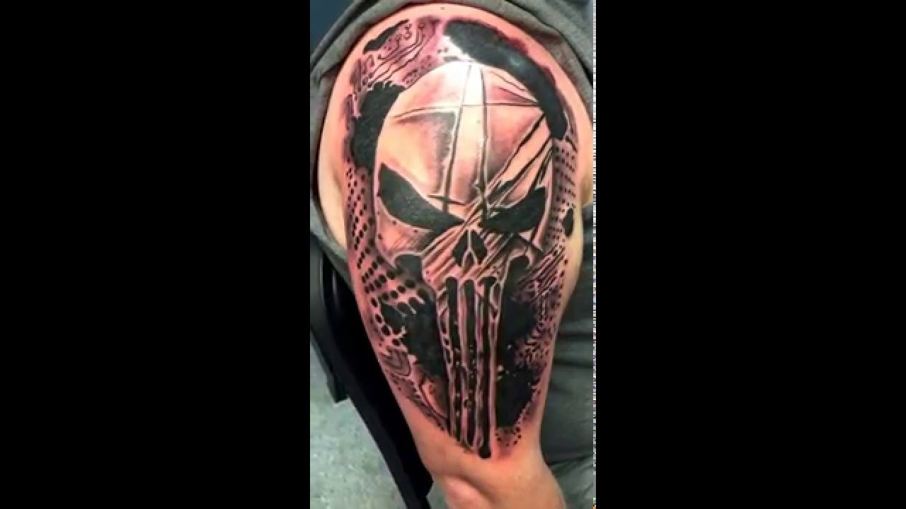 b2ec32184 82+ Best Punisher Tattoos, Designs and Ideas