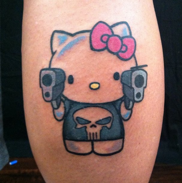 Tribal Hello Kitty: 82+ Best Punisher Tattoos, Designs And Ideas