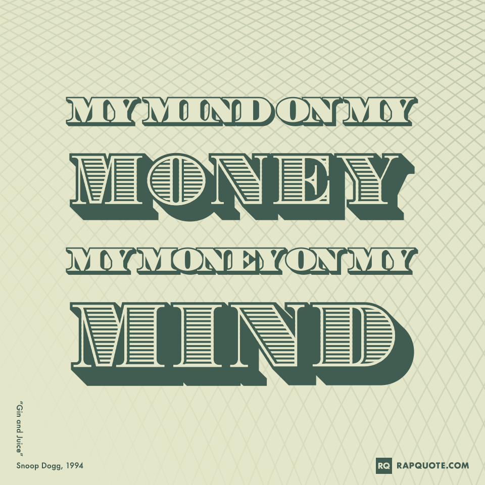 My Mind On My Money My Money On My Mind