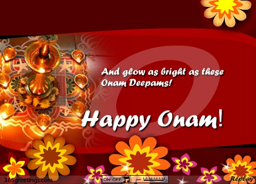100 best onam greeting pictures and images and glow as bright as these onam deepams happy onam m4hsunfo