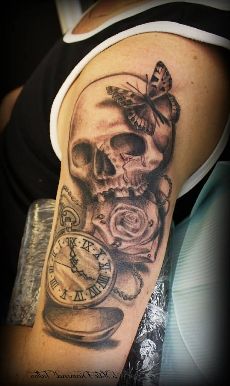 50 Best Skull Roses Tattoos For Women And Men
