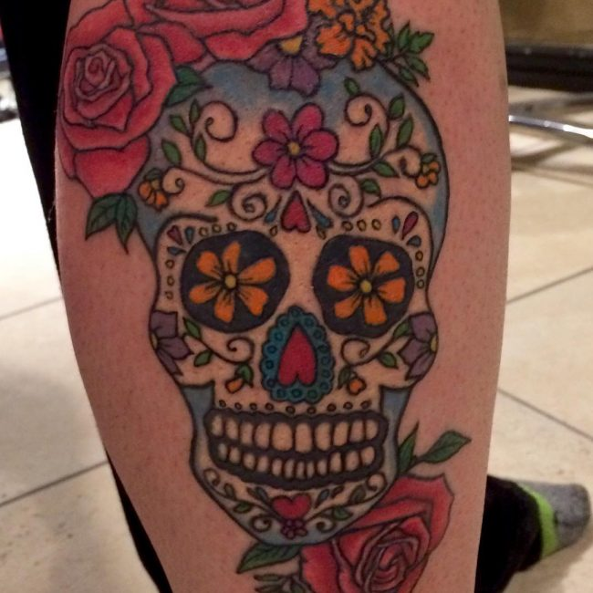 Skull Flowers Tattoo Flowers Healthy