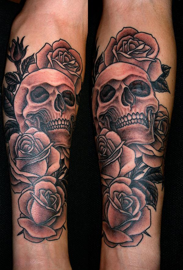 50 Best Skull Roses Tattoos For Women And Men