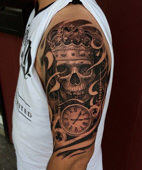 35 Skull Tattoos And Designs For Men Sleeve