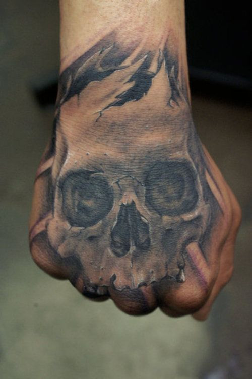 40 Skull Hand Tattoos Designs For Men