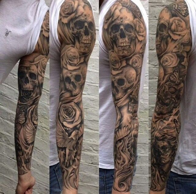 35+ Skull Tattoos and Designs For Men Sleeve