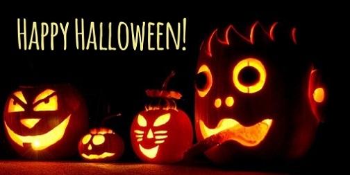 happy halloween pumpkins art