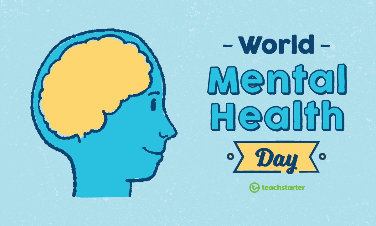 World Mental Health Day Human Brain Banner Image