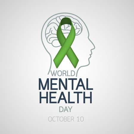 World Mental Health Day October 10 Icon Illustration