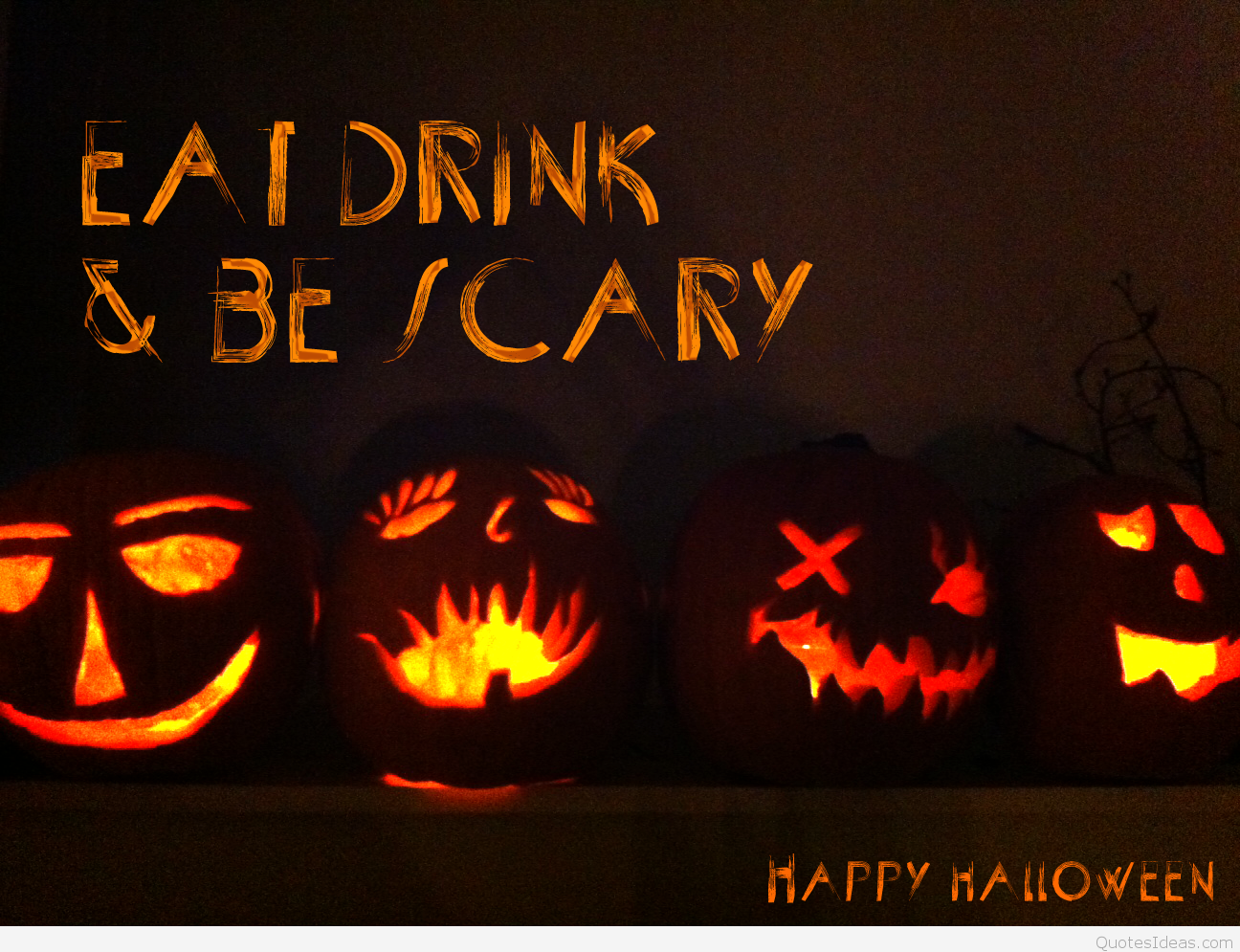 eat drink & be scary happy halloween