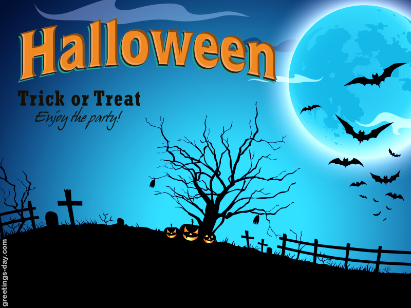 halloween trick or treat enjoy the party