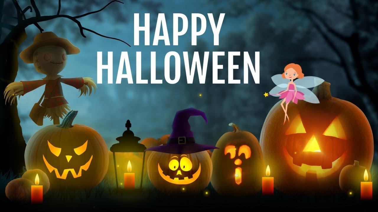 happy halloween lighting pumpkins