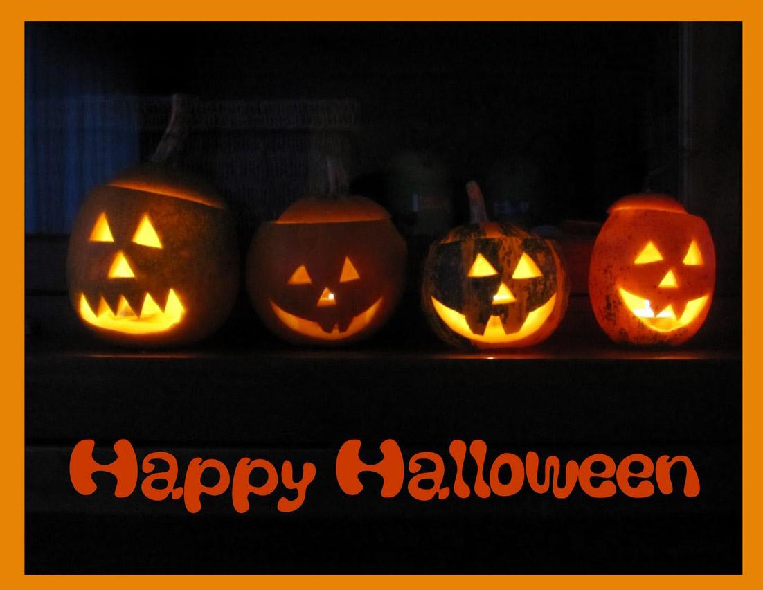 happy halloween pumpkins decoration for halloween