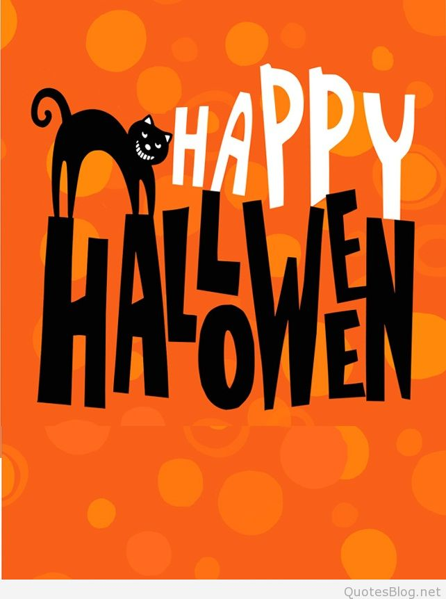 happy halloween scary cat poster