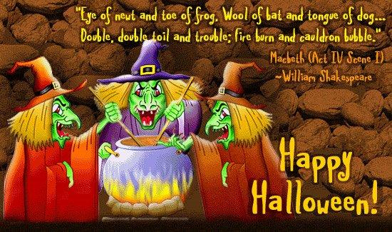 happy halloween william shakespeare quote