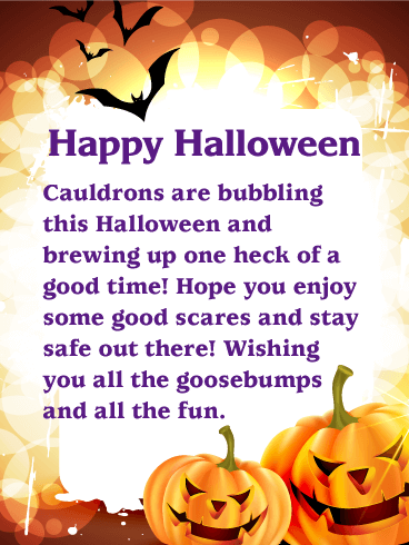 happy halloween wishing you all the goosebumps and all the fun