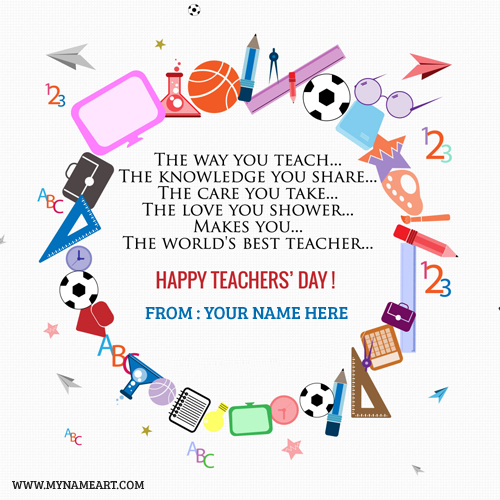 Happy Teachers Day 2018 Greeting Card