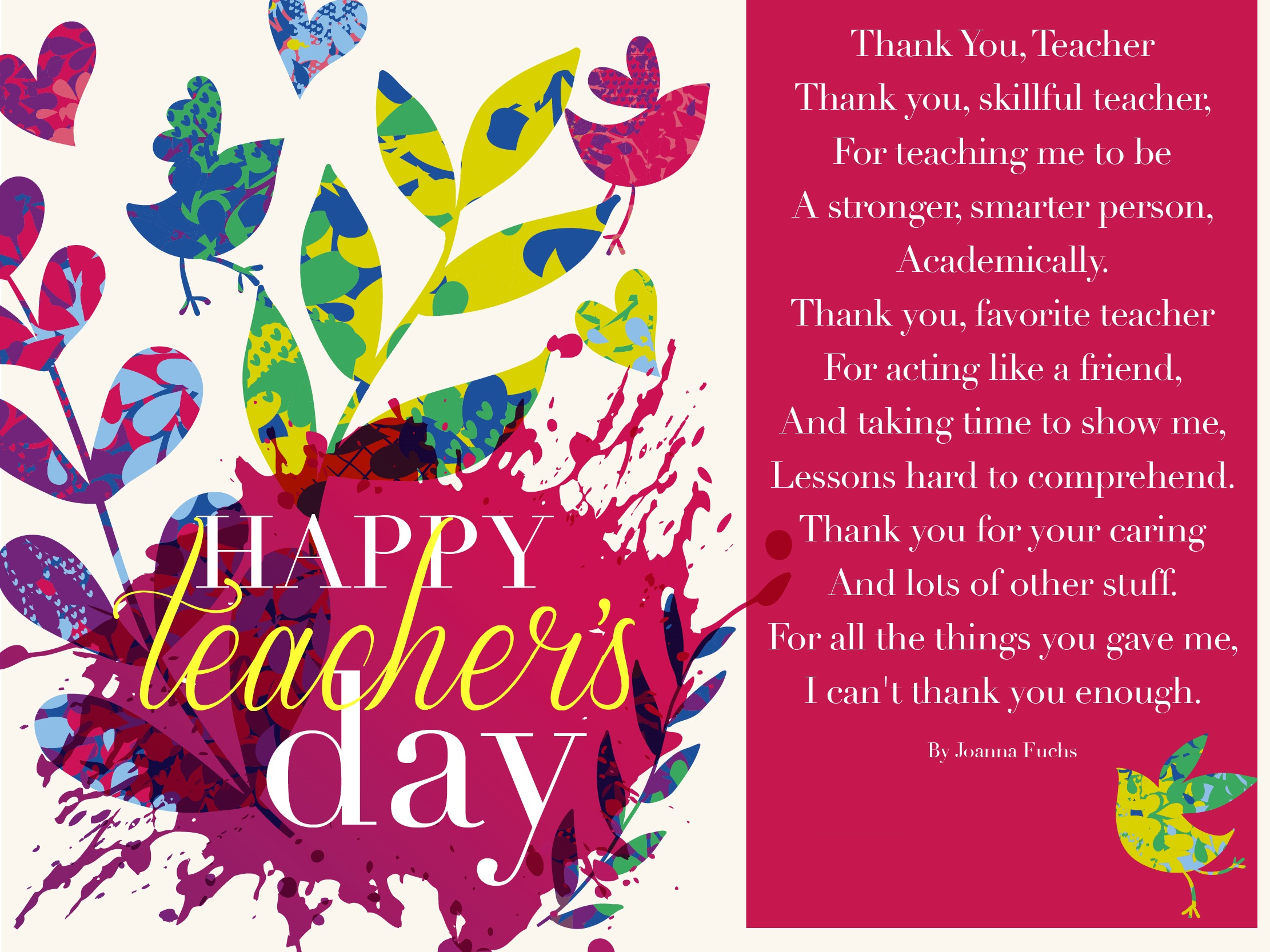 110 Most Beautiful World Teacher Day 2018 Greeting Picture Ideas