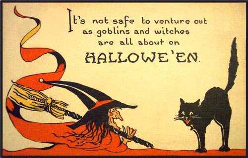 it's not safe to venture out as goblins and witches are all about on halloween